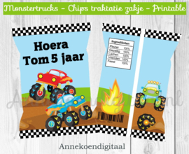 Monstertrucks chips traktatie zakje