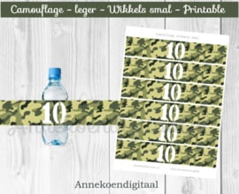 Camouflage Wikkels smal cijfer