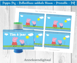 Peppa Pig Bellenblaas wikkel blauw