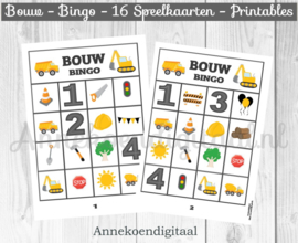 Bouw Bingo spel