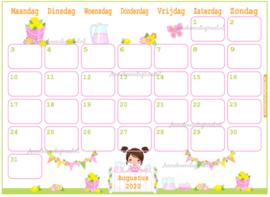 Augustus 2020 kalender serie Meisjes