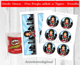 Wonder Woman Mini Pringles Wikkels