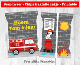Brandweer chips traktatie zakje