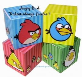 Angry Birds Traktatie doosjes