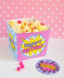 Superheld Meisje traktatie snack box
