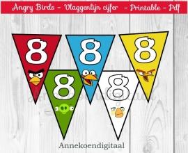 Angry Birds Vlaggenlijn Cijfer