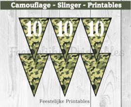 Camouflage Cijfer Slinger