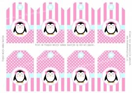 Pinguïn meisje Cadeau kaartjes