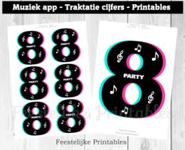 Muziek app traktatie cijfers