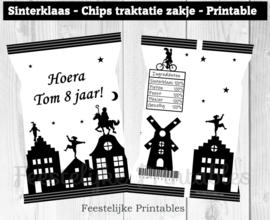 Sinterklaas chips traktatie zakje