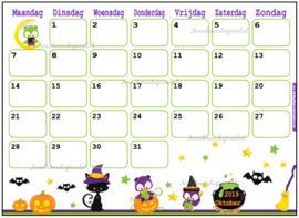 Oktober 2019 kalender thema Dieren