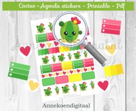 Cactus Planner Stickers 2