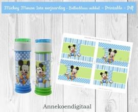 Mickey Mouse 1ste verjaardag Bellenblaas wikkel