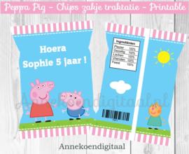 Peppa Pig chips traktatie zakje
