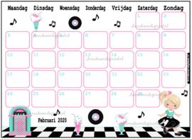 Februari 2020 kalender serie Meisjes