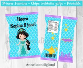 Prinses Jasmine chips traktatie zakje