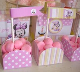 Minnie Mouse 1ste verjaardag snoep bakje