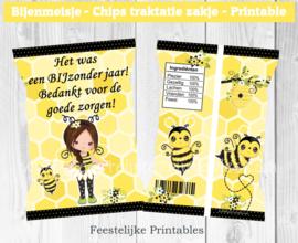 Bijenmeisje chips traktatie zakje
