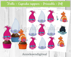 Trolls cupcake Toppers