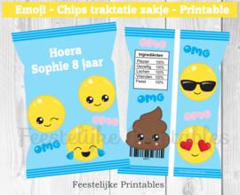 Emoji chips traktatie zakje