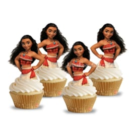 Vaiana cupcake Toppers
