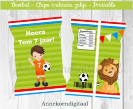 Voetbal jongen chips traktatie zakje (1)