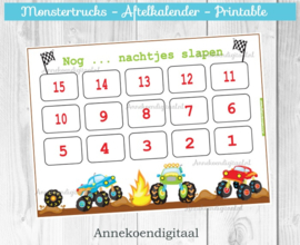 Aftelkalender Monstertrucks