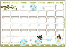 Maart 2020 kalender serie Meisjes