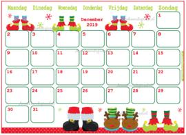 December 2019 kalender serie Jongens