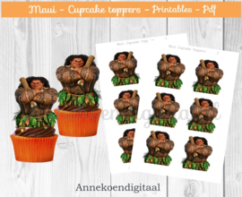 Maui cupcake Toppers
