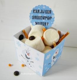 Frozen Olaf traktatie snack box