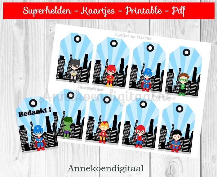 Superhelden kaartjes
