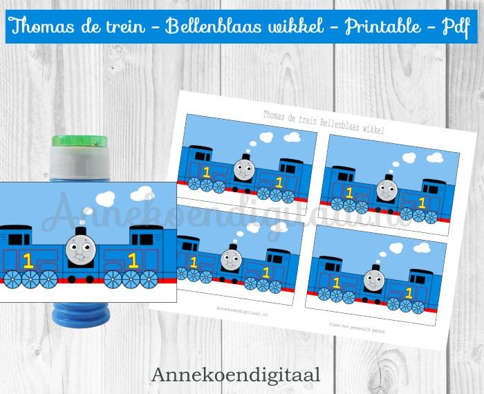Thomas de trein Bellenblaas wikkel