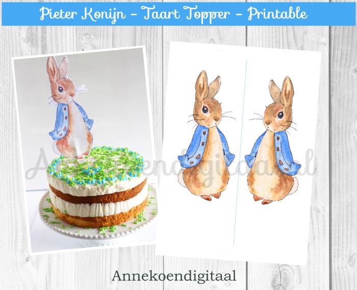 Pieter Konijn Taart Topper