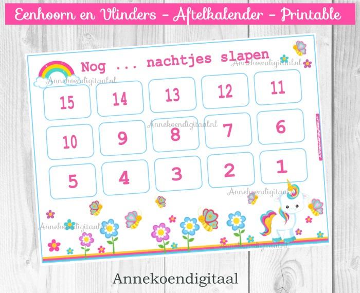 Eenhoorn aftelkalender