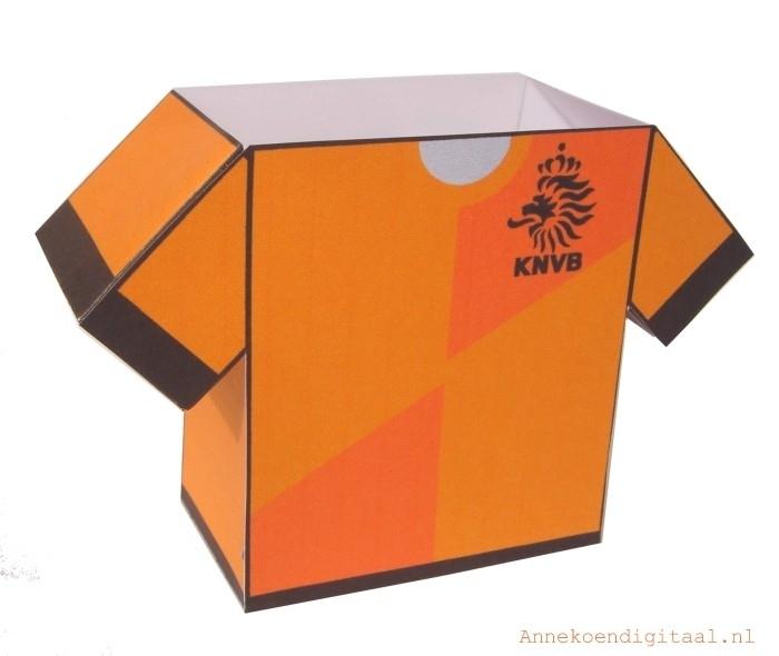Nederlands elftal voetbalshirt traktatie