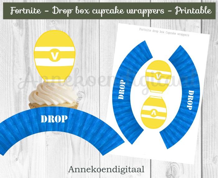 Fortnite drop box cupcake wikkels