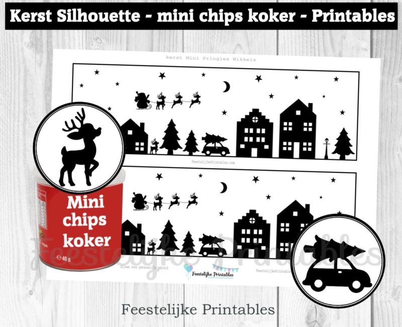 Kerst Mini Pringles Wikkels en Toppers