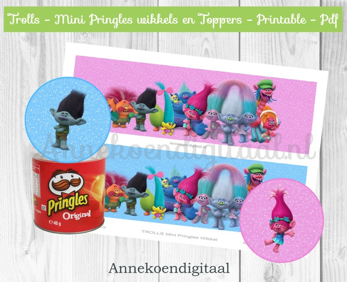 Trolls Mini Pringles Wikkels