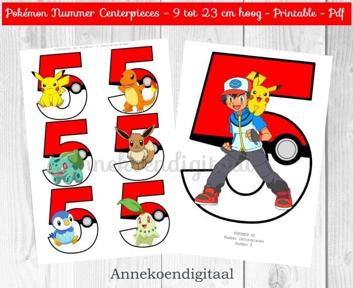 Pokemon GO Nummer Centerpieces