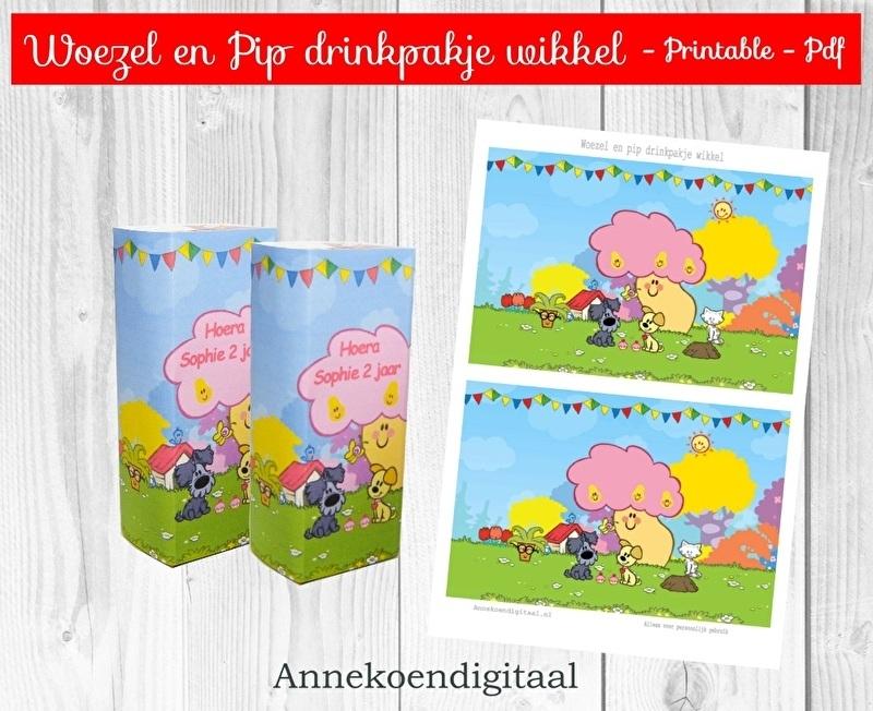 Woezel en Pip drinkpakje wikkel