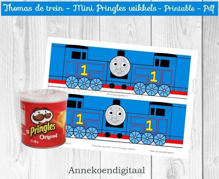 Thomas de trein Mini Pringles Wikkels