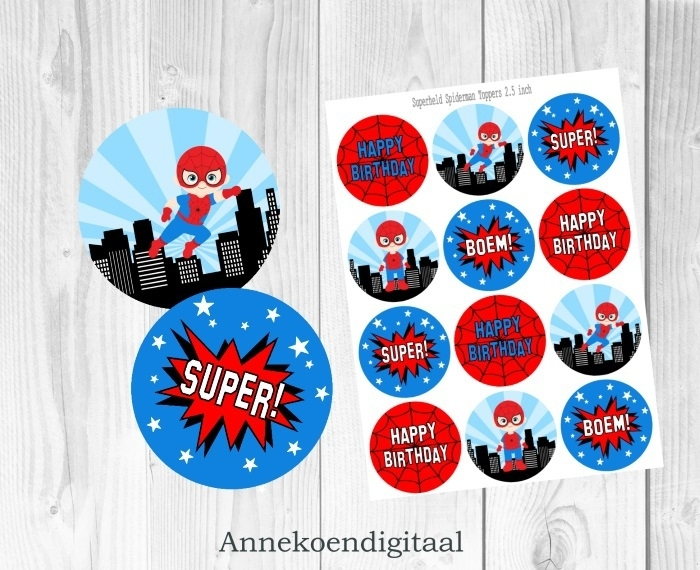 Superheld Spiderman Toppers 2.5 inch