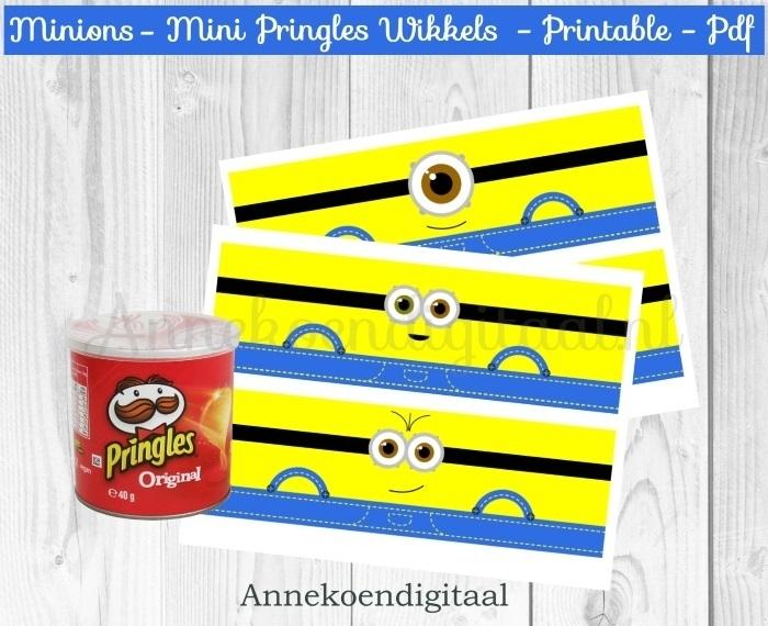 Minions Mini Pringles Wikkels