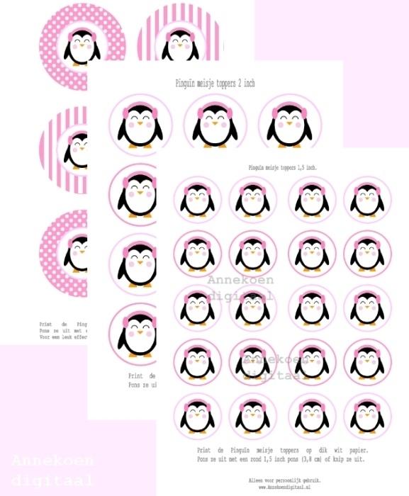 Pinguïn meisje Toppers