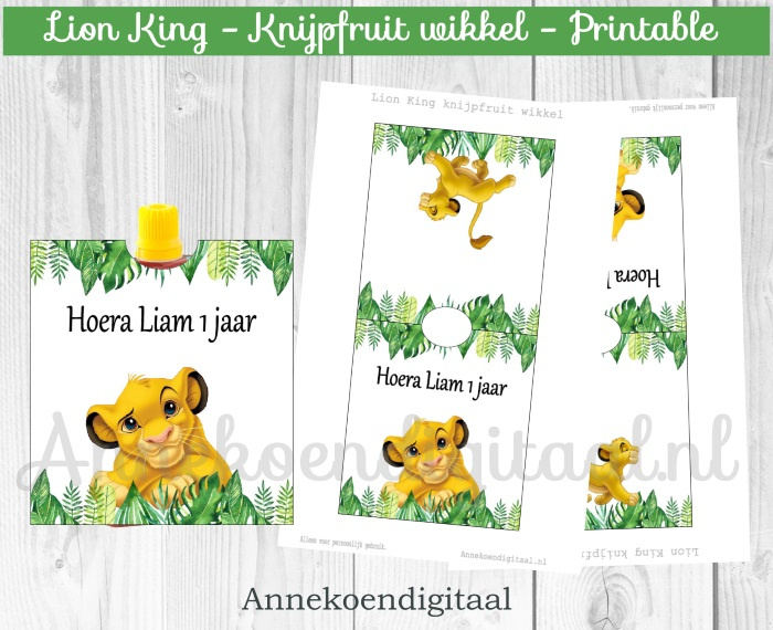 Lion King knijpfruit wikkel