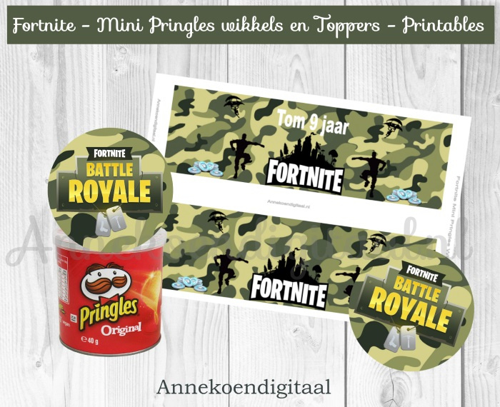 Fortnite Mini Pringles Wikkels