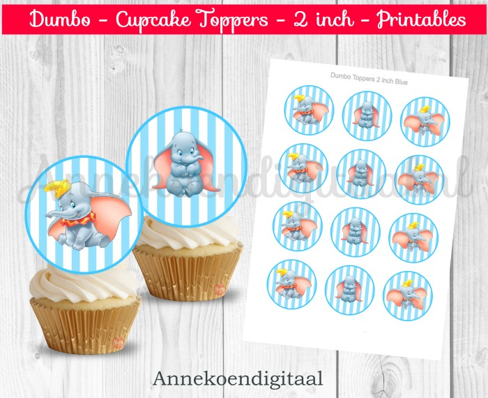 Dombo toppers 2 inch blauw