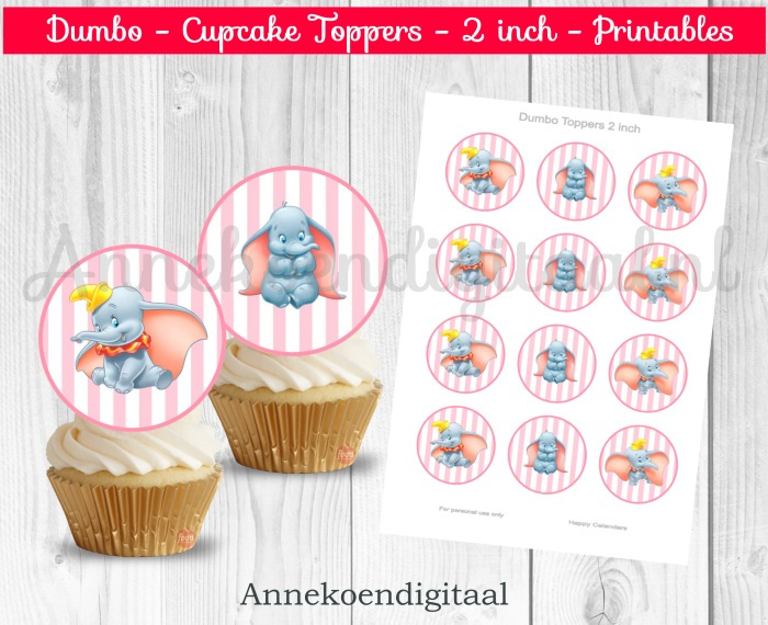 Dombo toppers 2 inch roze