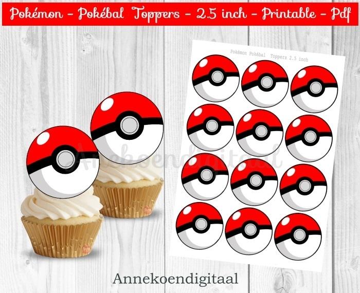 Pokemon Pokebal Toppers 2.5 inch